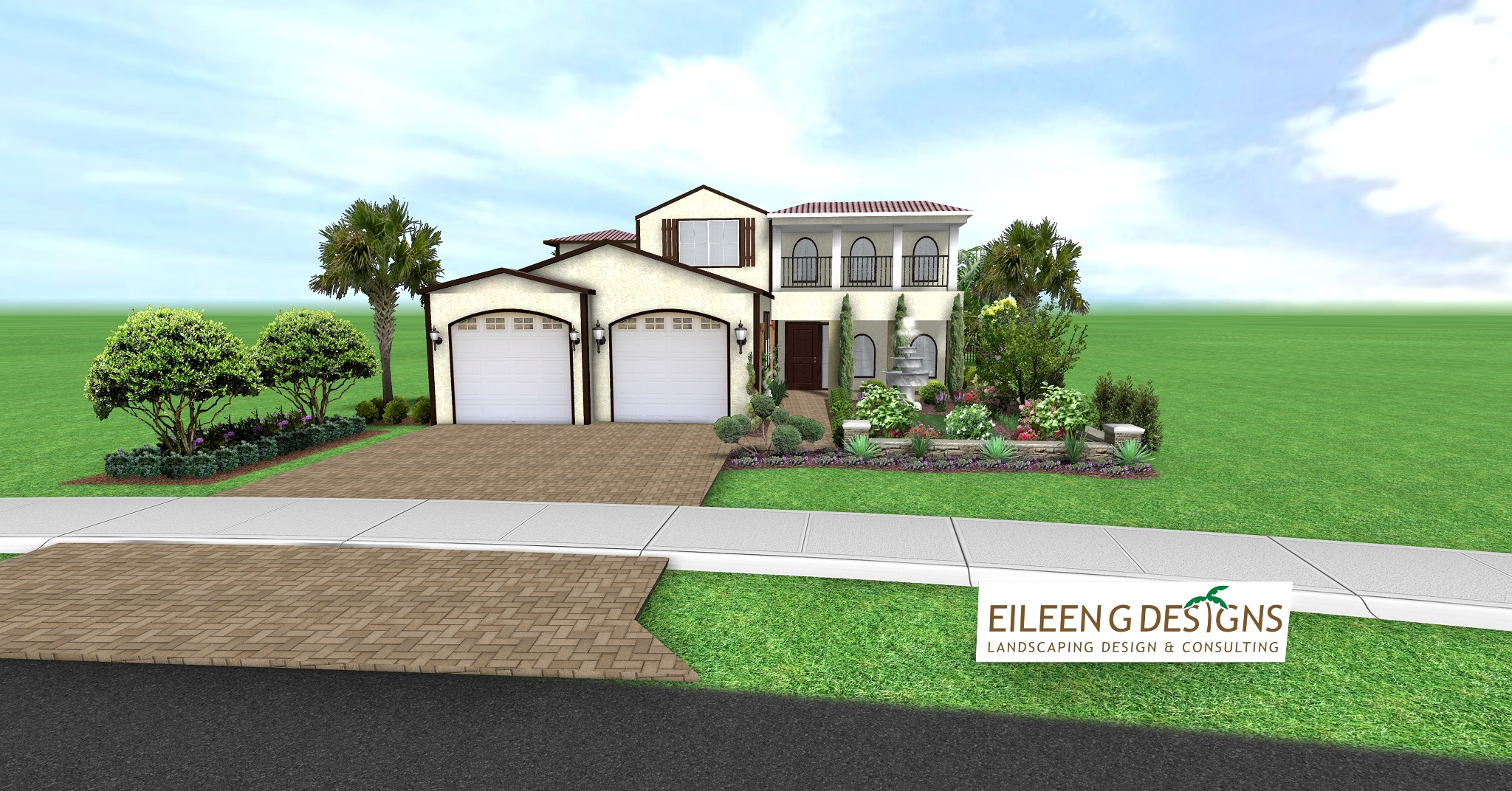 Driveway and Retaining Walls, Palm City, FL