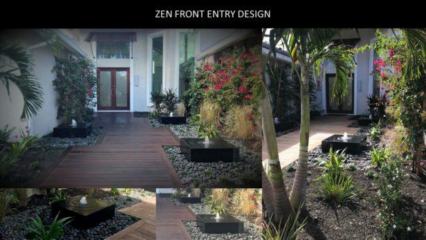 Zen Entry Design Features Zen Fountains Modern Landscape