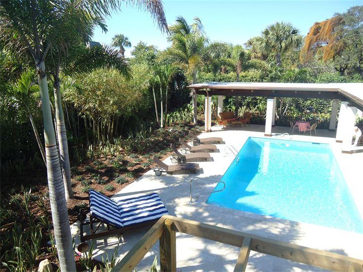 Tropical landscaping design for Stuart, Florida home.